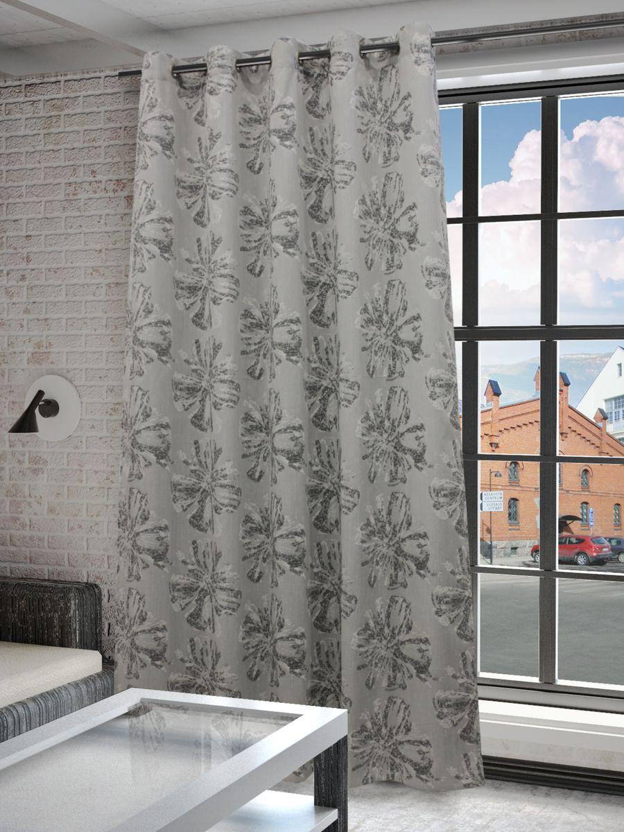Штора Sanpa Home Collection Луана, на люверсах, цвет: серый, высота 260 смHP3812/1304/1H Луана серый, , 200*260 см