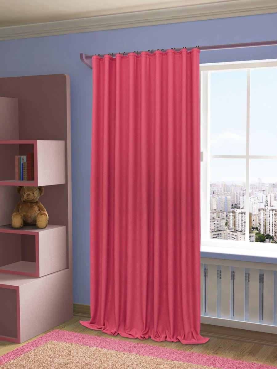 Штора Sanpa Home Collection Зелма, на ленте, цвет: фуксия, высота 270 смHP8130/234/1E Зелма фуксия, , 200*270 см
