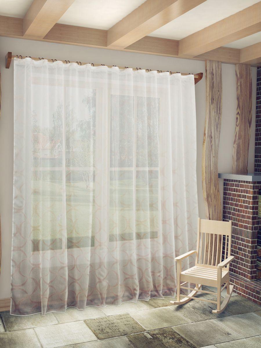 Тюль Sanpa Home Collection Алегрия, на ленте, цвет: розовый, высота 260 смHP2380/3/1E Алегрия розовый, , 300*260 см