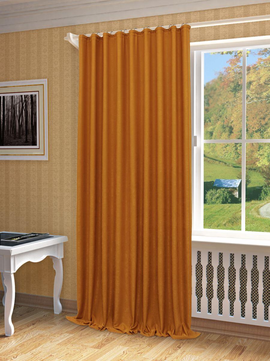 Штора Sanpa Home Collection Зелма, на ленте, цвет: красно-коричневый, высота 270 смHP8130/203/1E Зелма красно-коричнев, , 200*270 см