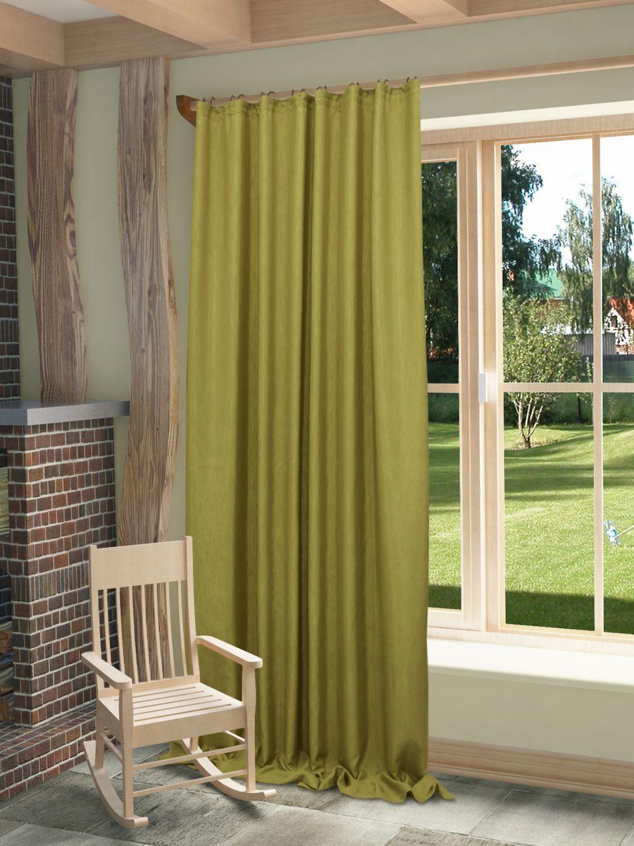 Штора Sanpa Home Collection Агнес, на ленте, цвет: оливковый, высота 280 смHP8120/123/1E Агнес оливковый, , 200*280 см