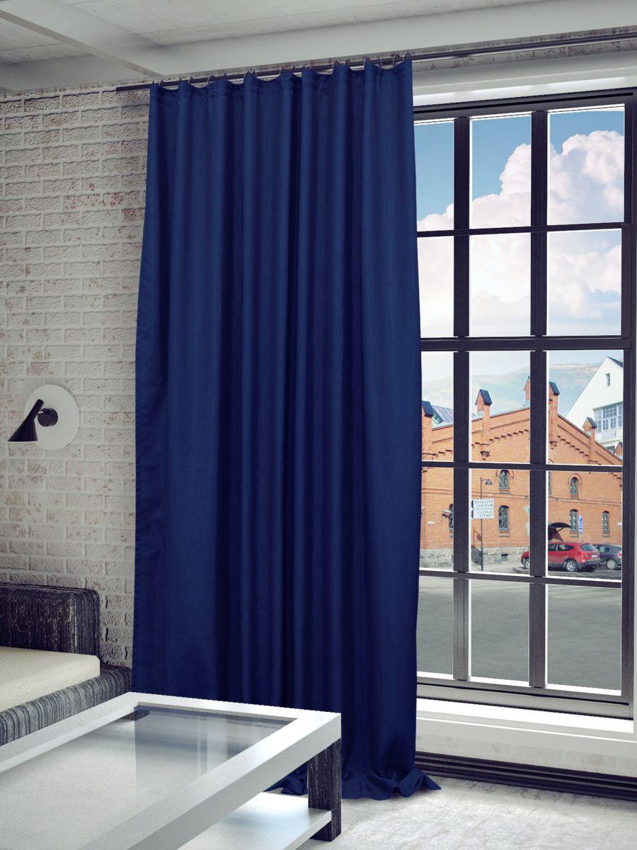 Штора Sanpa Home Collection Агнес, на ленте, цвет: синий, высота 280 смHP8120/1393/1E Агнес синий, , 200*280 см