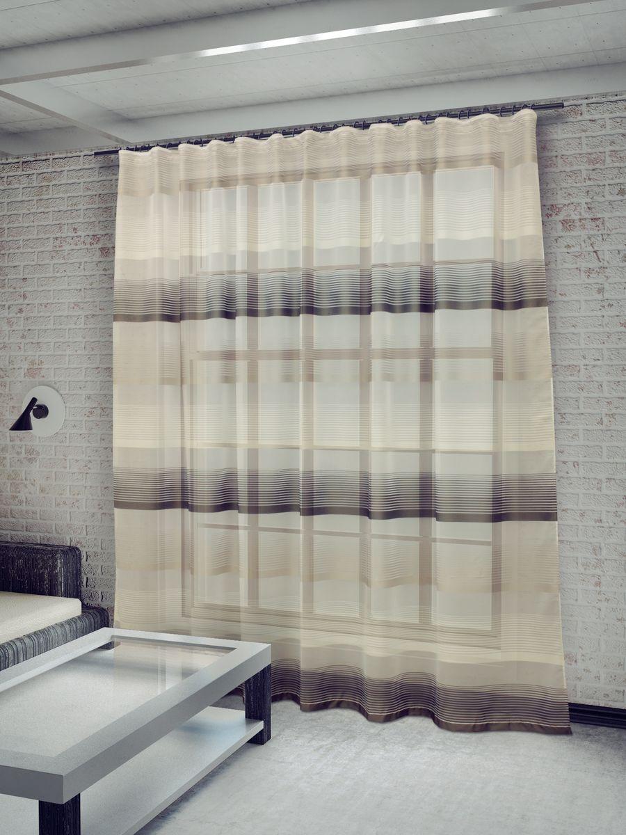 Тюль Sanpa Home Collection Лучиана, на ленте, цвет: серый, высота 255 смHP70592/8/1E Лучиана серый, , ш285*в255см