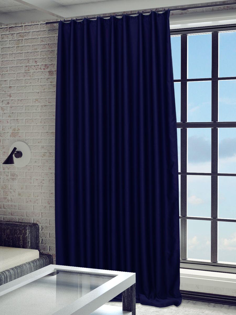 Штора Sanpa Home Collection Твила, на ленте, цвет: темно-синий, высота 280 смHP blackout/22/1E Твила темно-синий, , 200*280 см