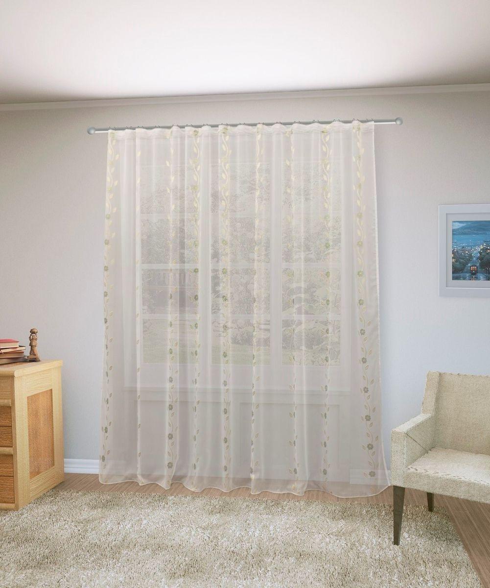 Тюль Sanpa Home Collection Розалия, на ленте, цвет: белый, высота 260 смHP70055/12/1E Розалия белый, , 300*260 см