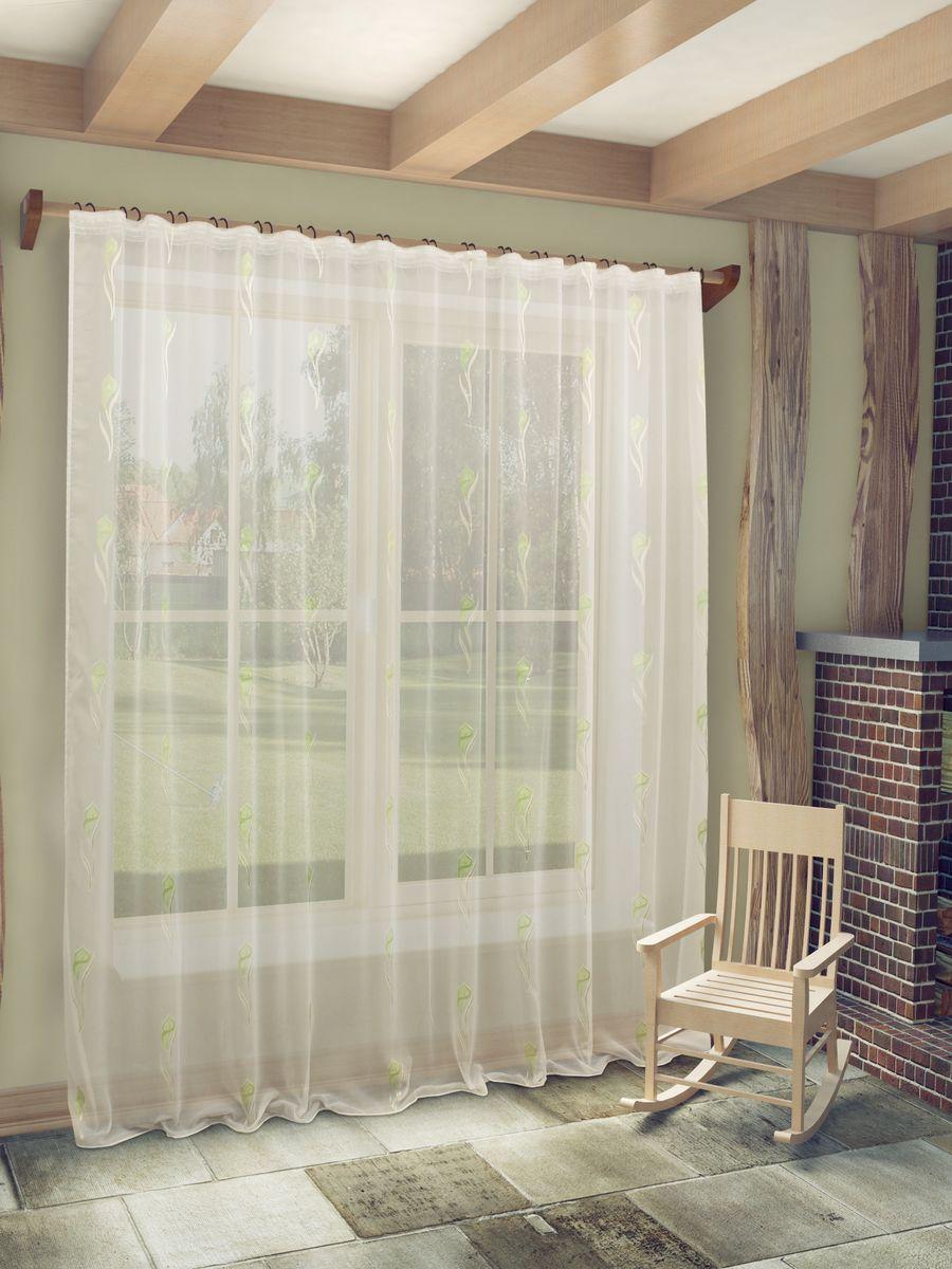 Тюль Sanpa Home Collection Антея, на ленте, цвет: салатовый, высота 260 смHP70267/10/1E Антея салатовый, , 300*260 см