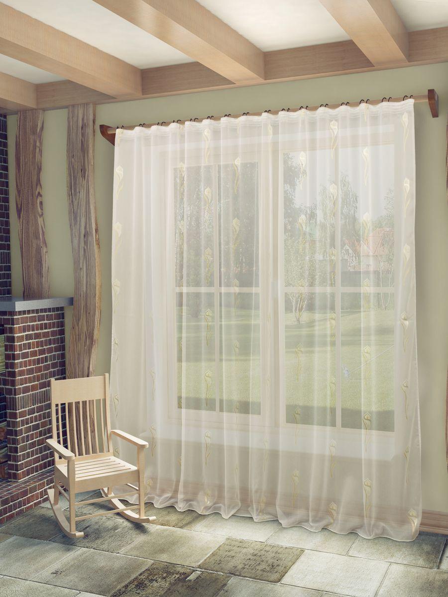 Тюль Sanpa Home Collection Антея, на ленте, цвет: белый, высота 260 смHP70267/1/1E Антея белый, , 300*260 см