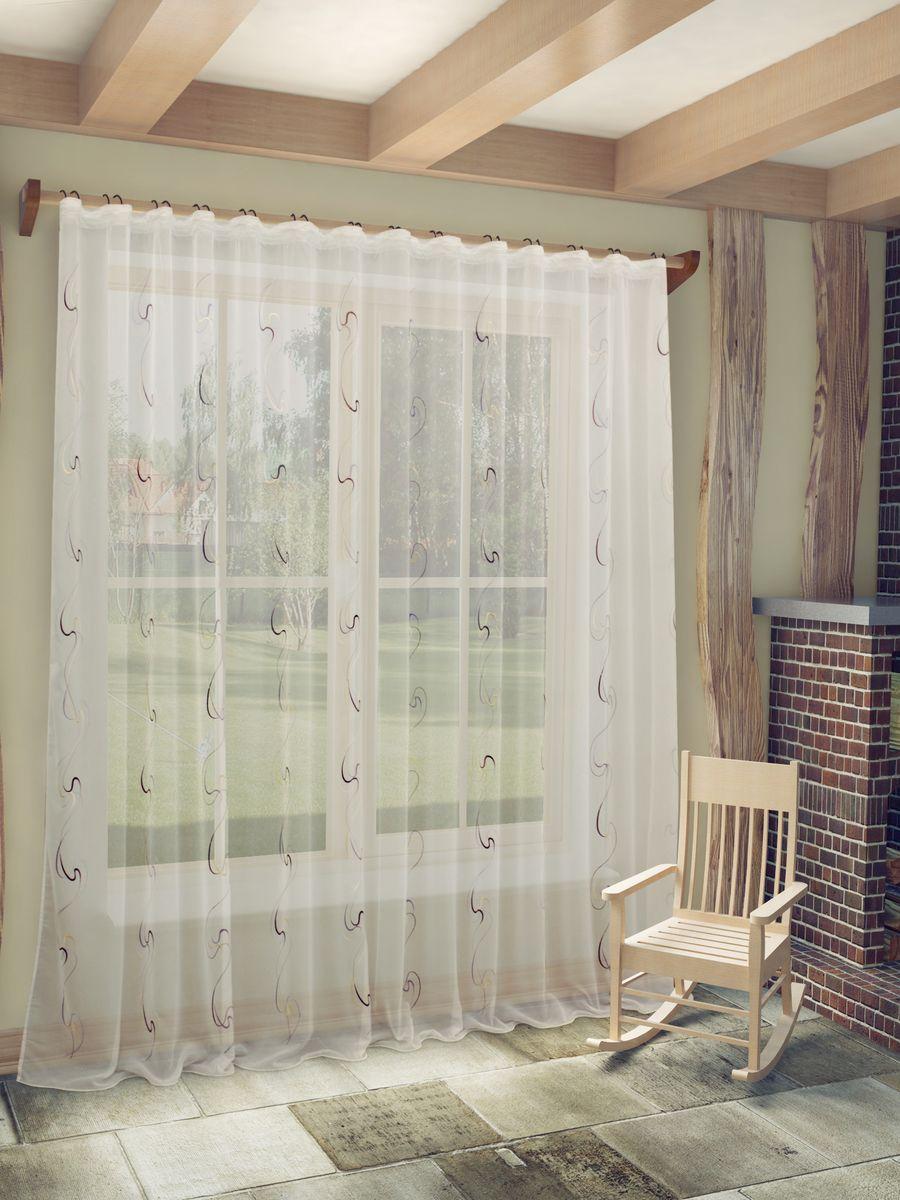 Тюль Sanpa Home Collection Джози, на ленте, цвет: сиреневый, высота 260 смHP48612/4/1E Джози сиренев, , 300*260 см