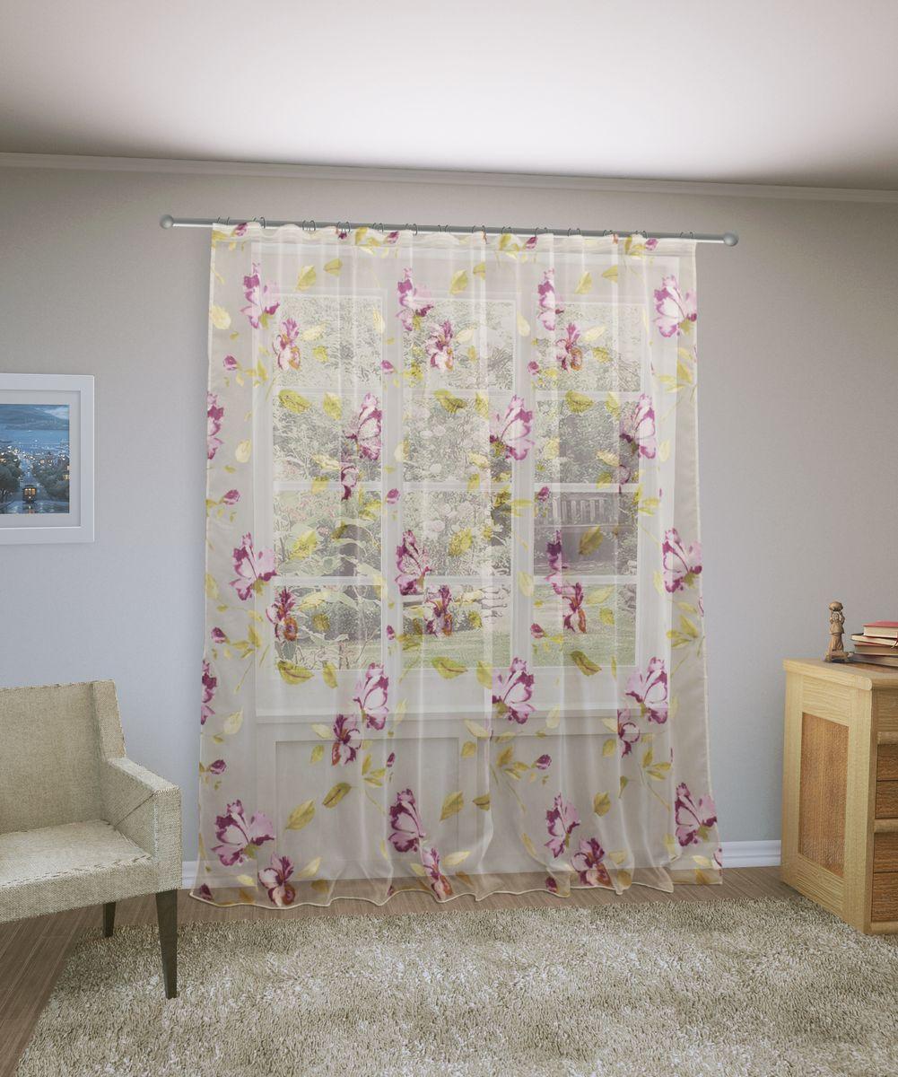 Тюль Sanpa Home Collection Офелия, на ленте, цвет: розовый, высота 260 смHP9238/8/1E Офелия розовый, , 300*260 см