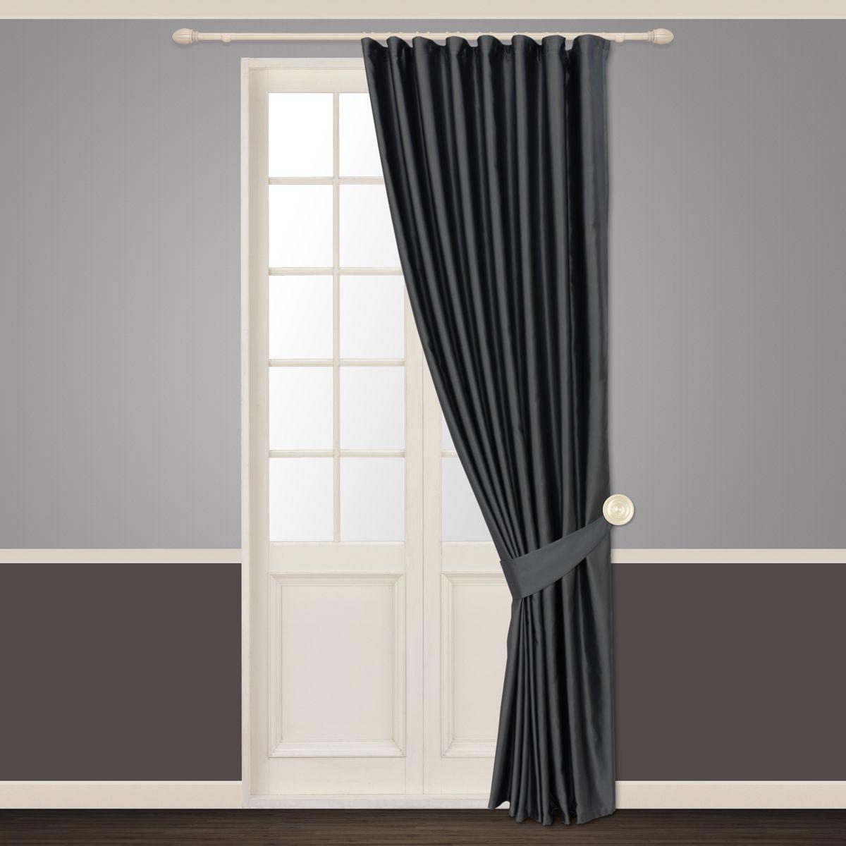 Штора Sanpa Home Collection Шания, на ленте, цвет: серый, высота 260 смHP01249/34/1E Шания серый, , 180*260+1подхват