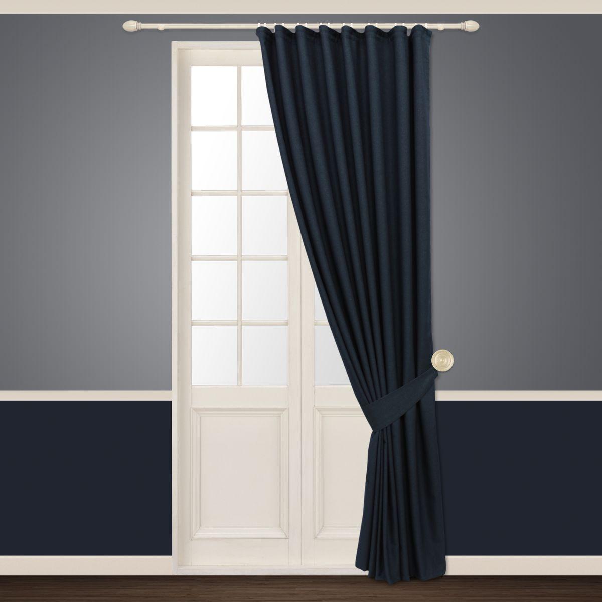 Штора Sanpa Home Collection Росария, на ленте, цвет: синий, высота 260 смHP01320/16/1E Росария синий, , 180*260+1подхват