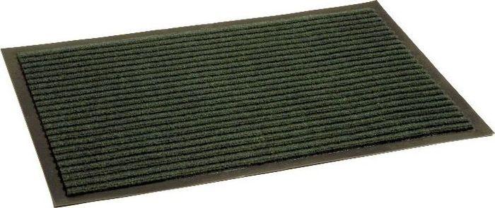 Коврик придверный InLoran Стандарт, влаговпитывающий, ребристый, цвет: зеленый, 50 х 80 см10-581Высота покрытия ~10 мм, иглопробивной петлевой ворс, удержание влаги и грязи на 1квадратный метр до 5 кг, материал изготовления - полиамид, винил