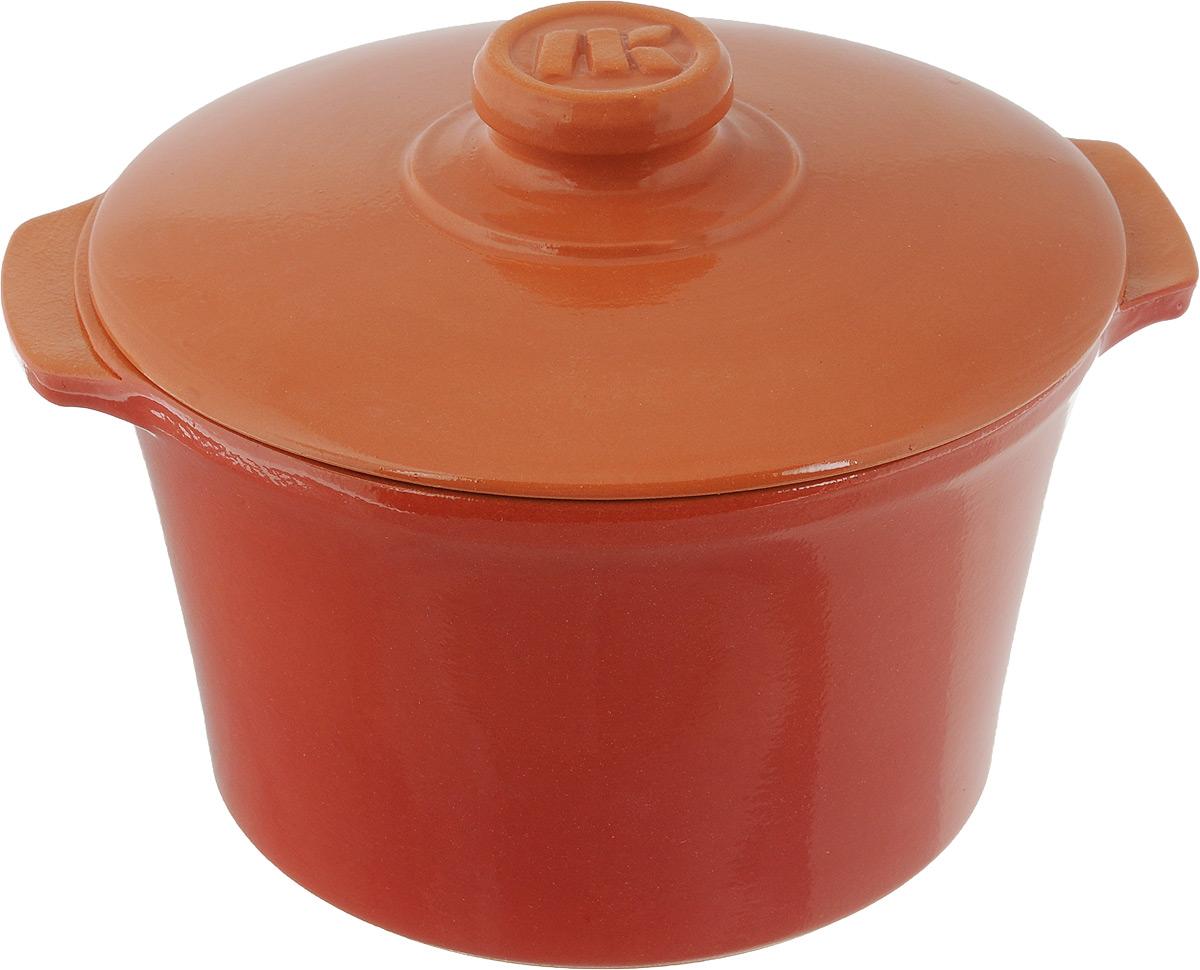 Кастрюля керамическая Ломоносовская керамика Огонек с крышкой, цвет: красный, 2 л1КТкр-2Кастрюля Ломоносовская керамика Огонек выполнена из высококачественной термостойкой керамики. Покрытие абсолютно безопасно для здоровья, не содержит вредных веществ. Кастрюля оснащена удобными боковыми ручками и керамической крышкой. Она плотно прилегает к краям посуды, сохраняя аромат блюд. Подходит кастрюля для использования на всех типах плит. Для использования на индукционных плитах требуется специальный диск. Благодаря термостойкости материала, кастрюлю можно использовать в духовке и СВЧ. Разрешено мыть в посудомоечной машине. Диаметр: 19,5 см. Высота стенки: 11,5 см. Диаметр дна: 15 см. Ширина кастрюли (с учетом ручек): 22,5 см. Диаметр крышки: 20 см.