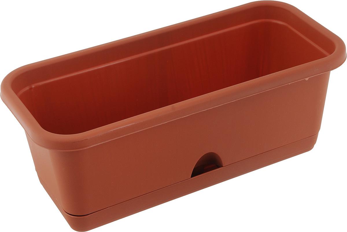 Балконный ящик Idea, с поддоном, цвет: коричневый, 38 х 15 х 13 смМ 3220_коричневыйБалконный ящик Idea изготовлен из высококачественного цветного полипропилена и оснащен поддоном. Изделие предназначено для выращивания цветов и рассады как на балконе, так и в комнатных условиях. Размер ящика (с учетом поддона): 38 х 15 х 13 см. Размер поддона: 33 х 11 х 3 см.