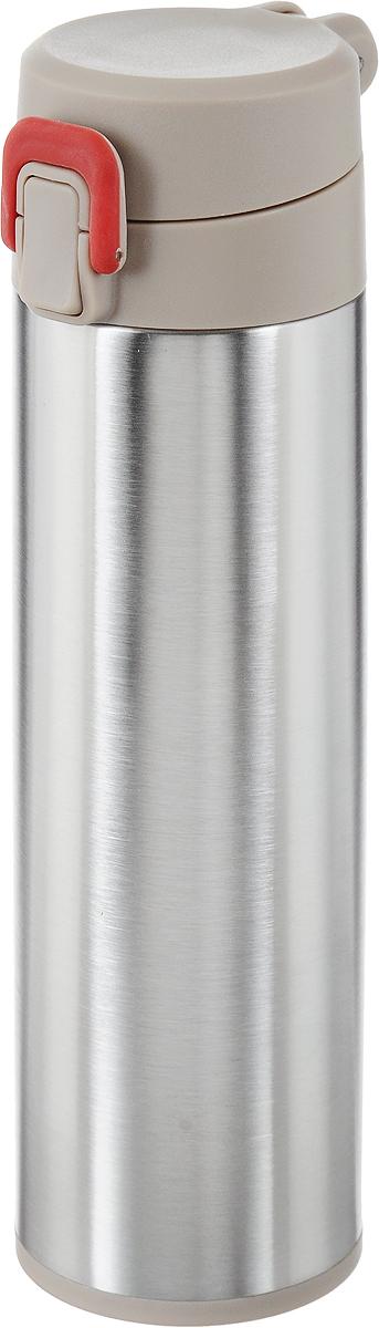 Термос Tescoma Constant Mocca, с замком, 0,5 л. 318581318581Спортивный термос Tescoma Constant Mocca сохранит напитки горячими или холодными. Двойная колба из нержавеющей стали сохраняет и поддерживает первоначальную температуру напитка, поэтому вы сможете насладиться теплым чаем или любимым прохладительным напитком. Термос оснащен крышкой с кнопкой и замком, предохраняющим от преднамеренного открытия во время занятий спортом или путешествий. Объем термоса: 0,5 л. Диаметр термоса (по верхнему краю): 5 см. Высота термоса (с учетом крышки): 24,5 см.