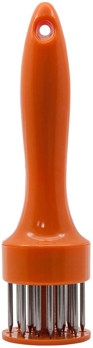 "Тендерайзер для мяса ""Borner"", круглый, цвет: оранжевый"