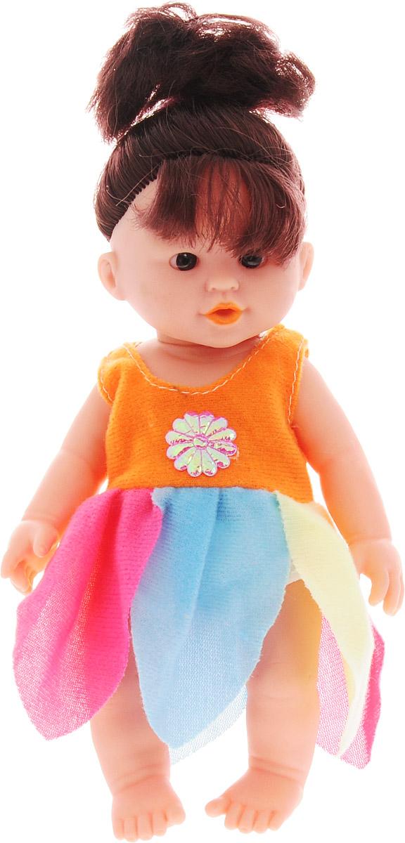 Veld-Co Кукла озвученная цвет платья оранжевый розовый голубой