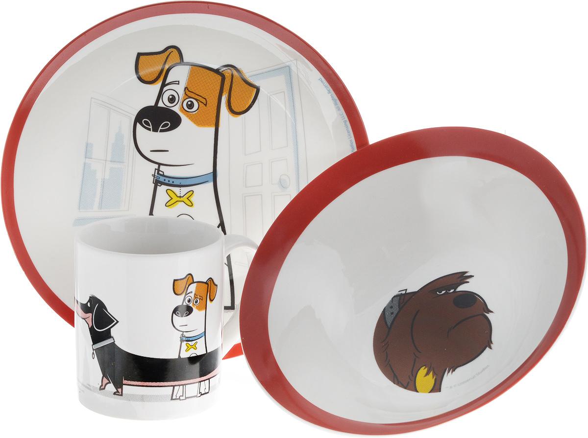 """Набор детской посуды Stor """"Тайная жизнь домашних животных"""", 3 предмета 46765"""