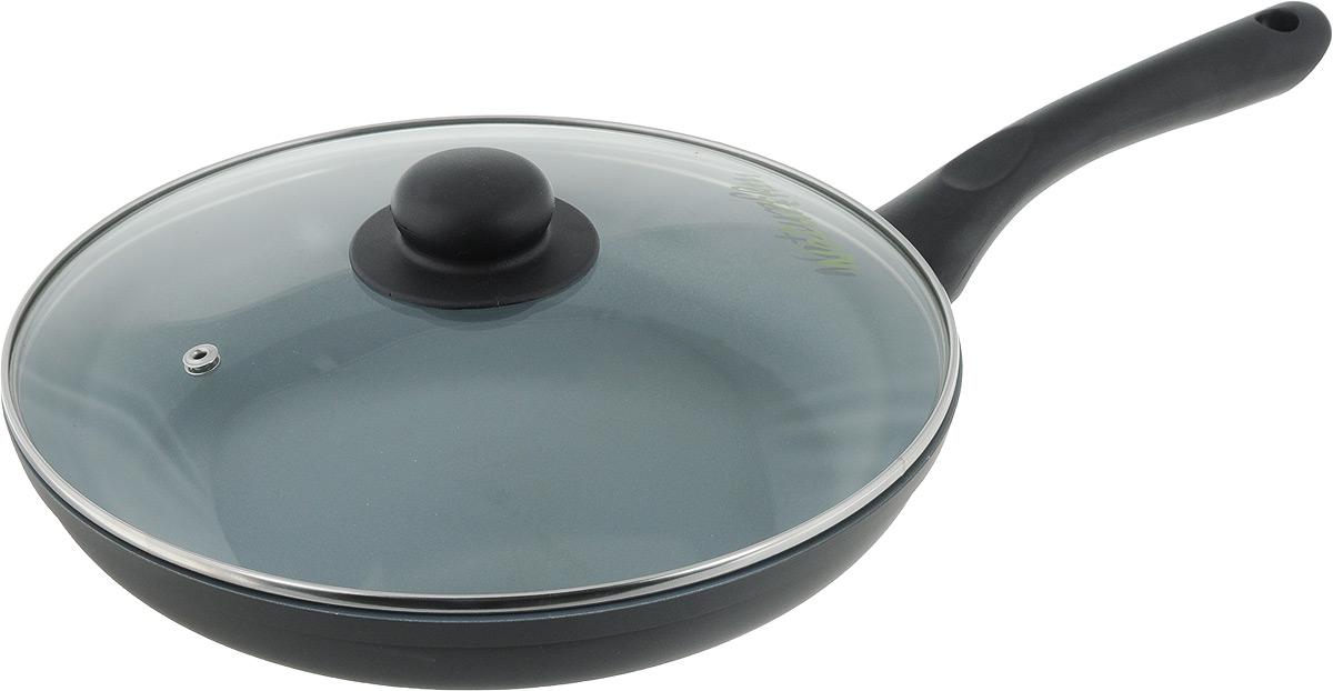 Сковорода NaturePan Classic с крышкой, с керамическим покрытием. Диаметр 26 смCP26/крСковорода NaturePan Classic выполнена из высококачественного алюминия с антипригарным керамическим покрытием. Покрытие абсолютно безопасно для здоровья, так ка не содержит PTFE и PFOA. Керамическое покрытие позволит вам готовить вкусную и здоровую еду с минимальным добавлением масла и жира. Сковорода оснащена удобной пластиковой ручкой, которая не нагревается. В комплект входит крышка из жаропрочного стекла. Крышка оснащена удобной ручкой и металлическим ободом и имеет отверстие для выпуска пара. Подходит для всех типов плит, кроме индукционных. Разрешена только ручная мойка. Высота стенки: 4,5 см. Длина ручки: 16 см.