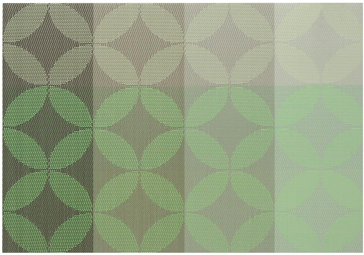 Салфетка для сервировки Oursson Круги, цвет: серо-зеленый, 30 х 45 смHS89603/MCСалфетка для сервировки стола Oursson Круги выполнена на 70% из поливинила и на 30% из полиэстера. Изделие предназначено для ежедневной защиты поверхностей от загрязнений и повреждений, обладает высокой износоустойчивостью, рассчитано на многократное использование. Легко моется мягкими чистящими средствами. Размер салфетки: 30 х 45 см.