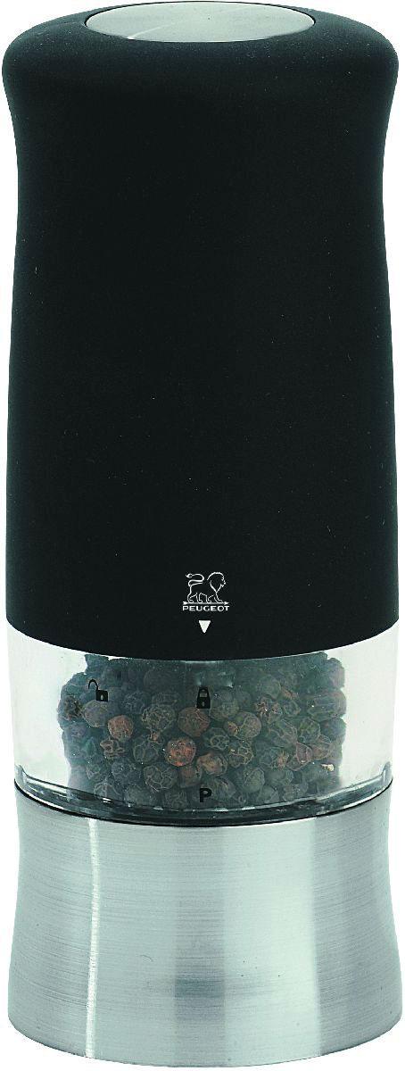 """Мельница для перца Peugeot """"Zephir"""", электрическая, цвет: черный, высота 14 см"""