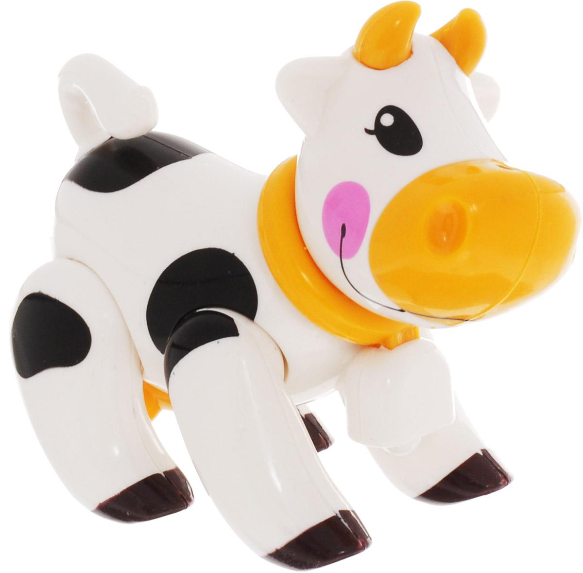 Ути-Пути Развивающая игрушка Корова цвет белый