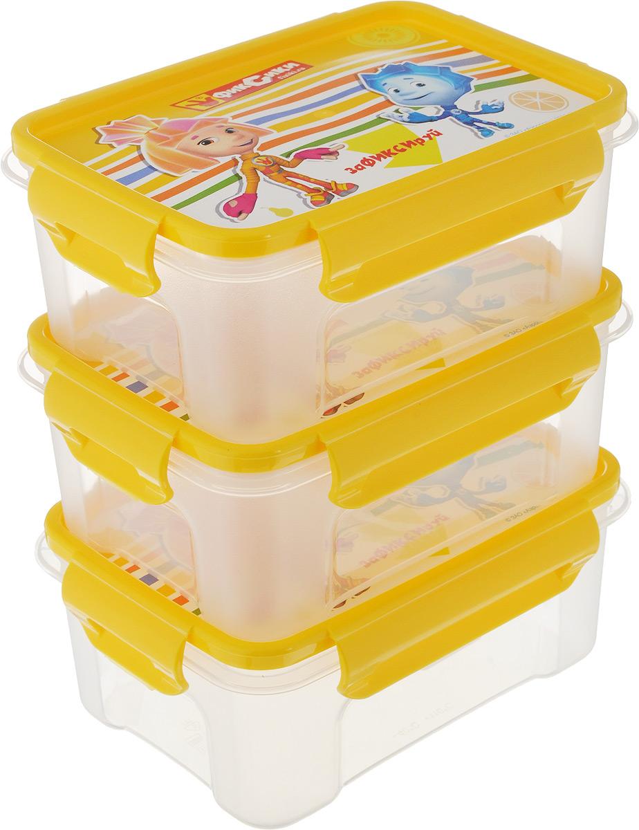 Набор контейнеров Полимербыт Фиксики, с крышками, 3 шт. SGHPBKP31SGHPBKP31Набор Полимербыт Фиксики состоит из трех контейнеров, выполненных из прочного пластика. Контейнеры оснащены крышками, закрывающимися на 4 защелки. Крышки оформлены милым изображением. В контейнер удобно положить завтрак и взять с собой на учебу, на работу или в путешествие. Легкие и надежные контейнеры для завтрака не выскользнут из рук в неподходящий момент, не разобьются на осколки и не займут много места в вашей сумке. Можно использовать в микроволновой печи и мыть в посудомоечной машине. Рабочая температура: от -40°C до +110°C. Размер контейнеров (с учетом крышки): 16 х 11,5 х 6,5 см.