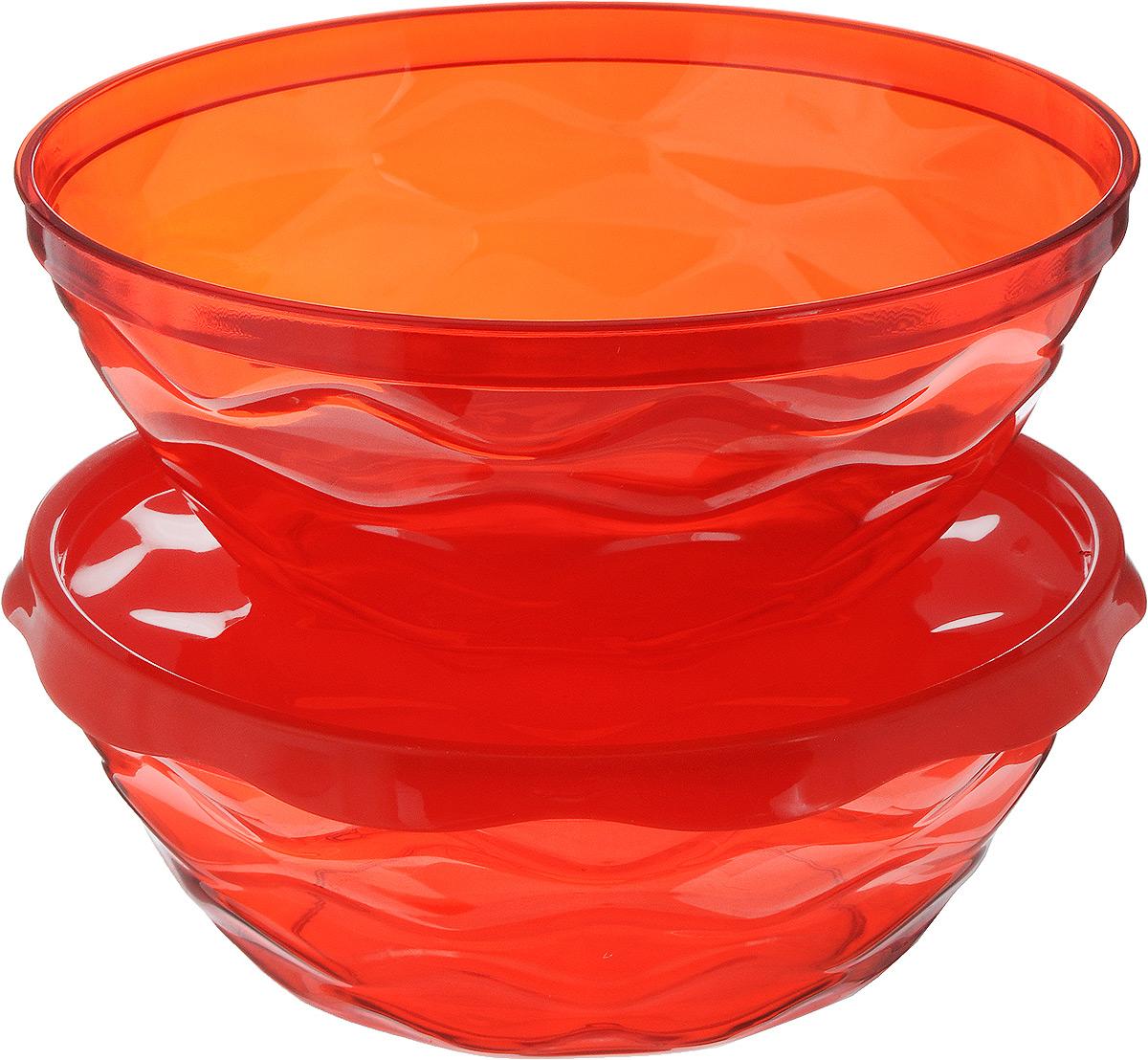 Набор салатников Giaretti Riva, цвет: красный, 2,5 л, 3 предметаGR1838МИКСНабор салатников Giaretti Riva состоит из двух салатников, выполненных из прозрачного полистирола. Салатники прекрасно подходят как для приготовления, так и для подачи различных блюд на стол. Стильный дизайн и яркие цвета создадут творческую атмосферу на вашей кухне. В комплект входит удобная плотная крышка, которая сохранит свежесть приготовленных блюд. Можно мыть в посудомоечной машине.