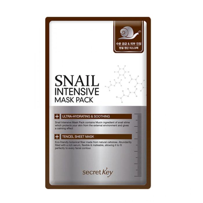 Secret Key Маска для лица тканевая с муцином улитки Snail Intensive Mask Pack, 20 грS2024Улиточный секрет, который производит улитка для лечения и регенерации своего поврежденного тельца, является мощным восстанавливающим и омолаживающим компонентом, благодаря чему завоевал небывалую популярность. Благодаря современным технологиям, добывается улиточный секрет без вреда для самих улиток, бережно и аккуратно обрабатывается и используется в составе многих косметических средств. Подходит для кожи любого типа, особенно рекомендуется для сухой и поврежденной, идеально воспринимается даже самой чувствительной кожей. Секрет улитки в короткие сроки восстанавливает поврежденную кожу, оказывает мощное обновляющее действие на клеточном уровне, способствуя синтезу новых соединительных тканей, интенсивно увлажняя кожу и защищая ее от преждевременного старения. Еще одно уникальное свойство улиточной слизи – способность обеззараживать поверхность кожи, «склеивая» между собой бактерии и нейтрализуя их жизнеспособность и проникновение в кожу. Маска Snail Intensive Mask Pack от Secret Key...