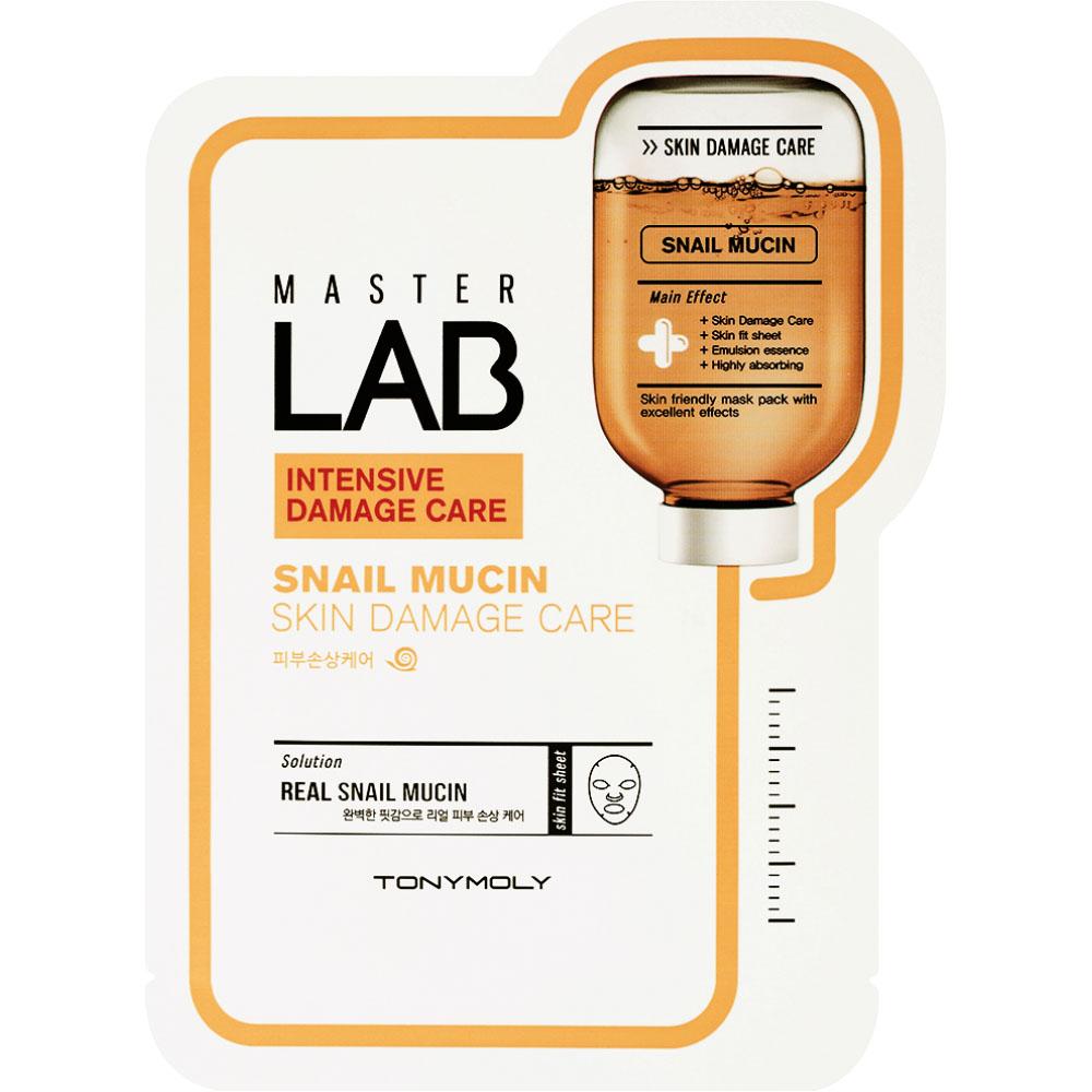 TonyMoly Тканевая маска Master Lab Snail Mucin Mask, 19 грSS05035000Маска запускает в эпидермисе мощнейшие восстановительные процессы. Улучшает тургор кожи, ускоряет регенерацию клеток. Срок годности: 24 месяца.