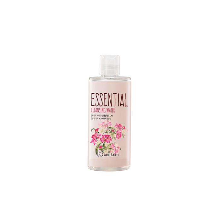 Berrisom Очищающая вода Berrisom Essential Cleansing Water - Flower, 300 млБР144Вода эффективно удаляет макияж и увлажняет кожу. Бережно и деликатно очищает кожу от загрязнений, удаляет омертвевшие клетки, насыщает питательными веществами. Имеет успокаивающий эффект, придает ощущение длительного комфорта и свежести. Цветочный комплекс освежает тон кожи и сохраняет ее чистой. Насыщена экстрактами цветов магнолии, лилии, вьюнка, пиона. Не содержит парабенов, животных экстрактов и т.д.