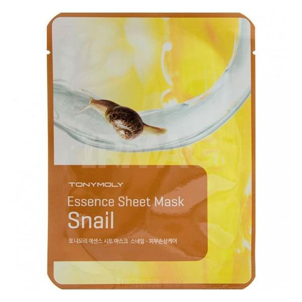 TonyMoly Маска-эссенция для лица Essence Sheet Mask-Snail Skin Damage Care, 20 грSS05030800Использование маски придаст лицу гладкость, эластичность, уменьшит проявление угрей и сделает кожу сияющей и здоровой.