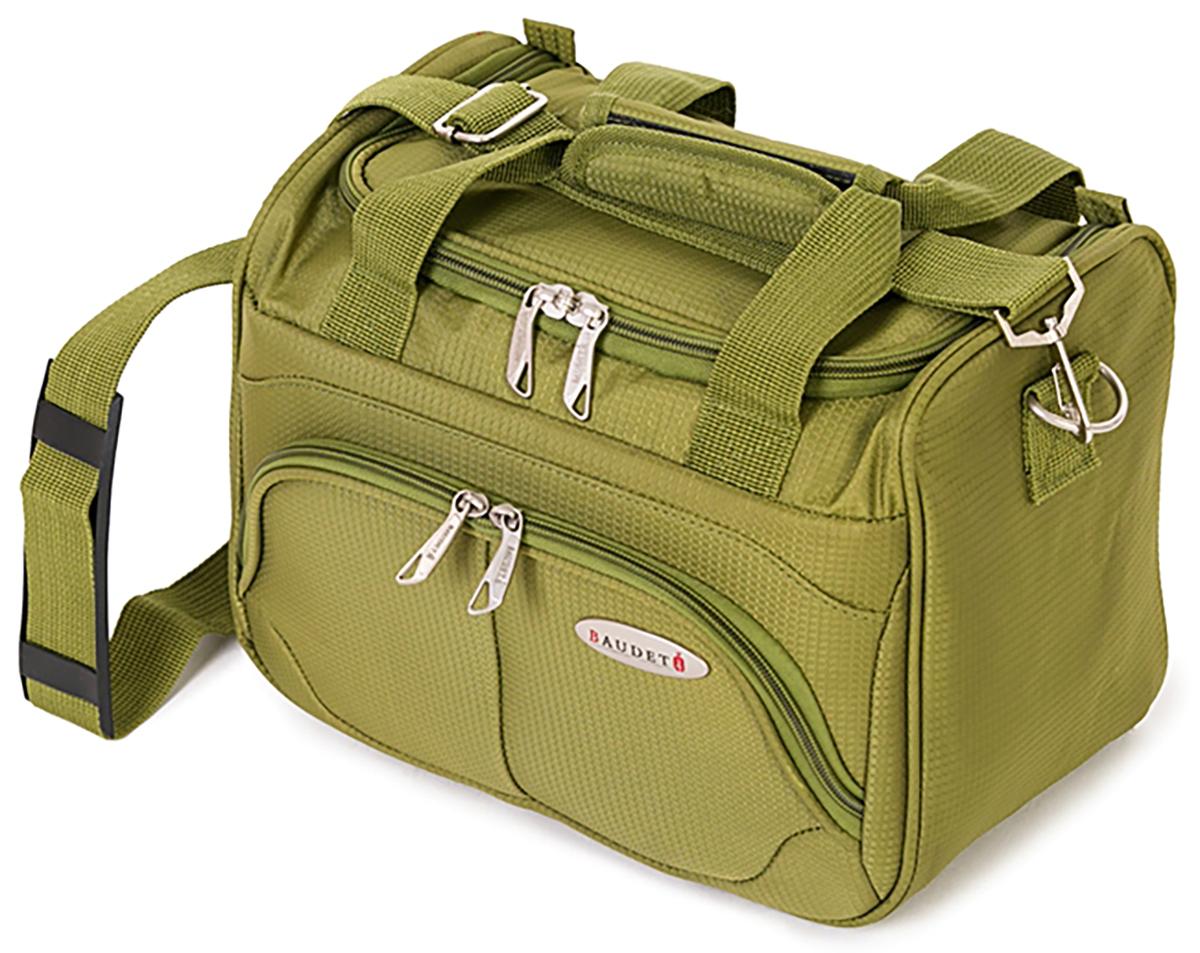 Бьюти-кейс Baudet, цвет: оливковый, 24х30х17 см, 10лBA0505302Бьюти-кейс, зеленый