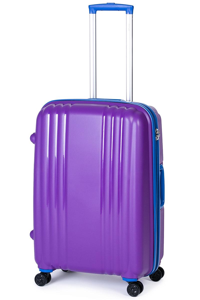 Чемодан Baudet, цвет: фиолетовый, 75х55х30 см, 123лBHL0708803-75Чемодан на колесах, фиолетовый/синий, 75 см