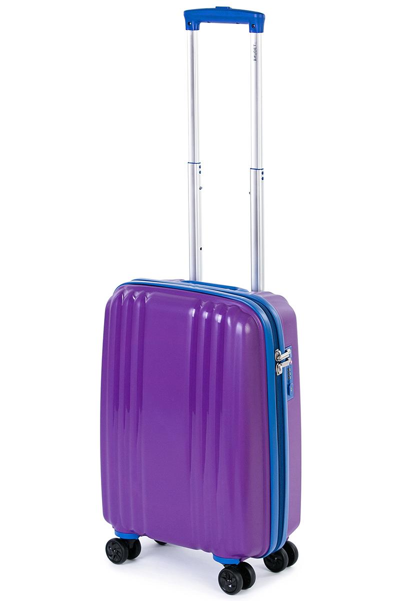 Чемодан Baudet, цвет: фиолетовый, 48х35х22 см, 37лBHL0708803-48Чемодан на колесах, фиолетовый/синий, 48 см