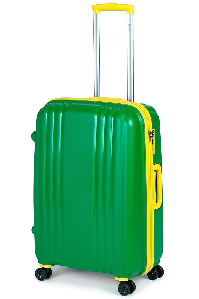 Чемодан Baudet, цвет: зеленый, 65х45х25 см, 73лBHL0708803-65Чемодан Baudet надежный и практичный в путешествии. Выполнен из прочного и ударостойкого полипропилена, материал внутренней отделки - полиэстеровая ткань серого цвета. Чемодан содержит продуманную внутреннюю организацию. Имеется одно большое отделение, которое закрывается по периметру на застежку-молнию . Внутри содержатся два больших отдела для хранения одежды с перекрещивающимися Для легкой и удобной перевозки чемодан оснащен четырьмя колесами вращающимися на 360 градусов. Телескопическая ручка выдвигается нажатием на кнопку и фиксируется в двух положениях. Сверху и сбоку предусмотрены ручки для поднятия чемодана. Гарантия на чемодан 2 года. Чемодан оснащен кодовым замком TSA, который исключает возможность взлома. Отверстие для ключа в кодовом замке предназначено для работников таможни (открытие багажа для досмотра без присутствия хозяина). Ключ находится только у таможни и в комплекте с чемоданом не идет.