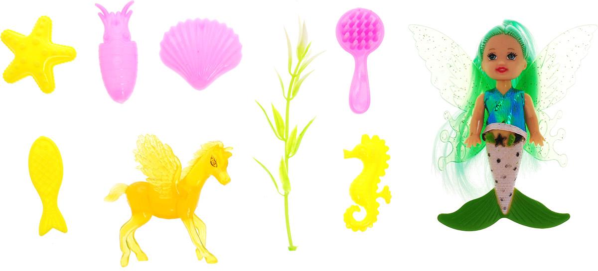 Veld-Co Игровой набор с мини-куклой Butterfly Faerie цвет волос зеленый