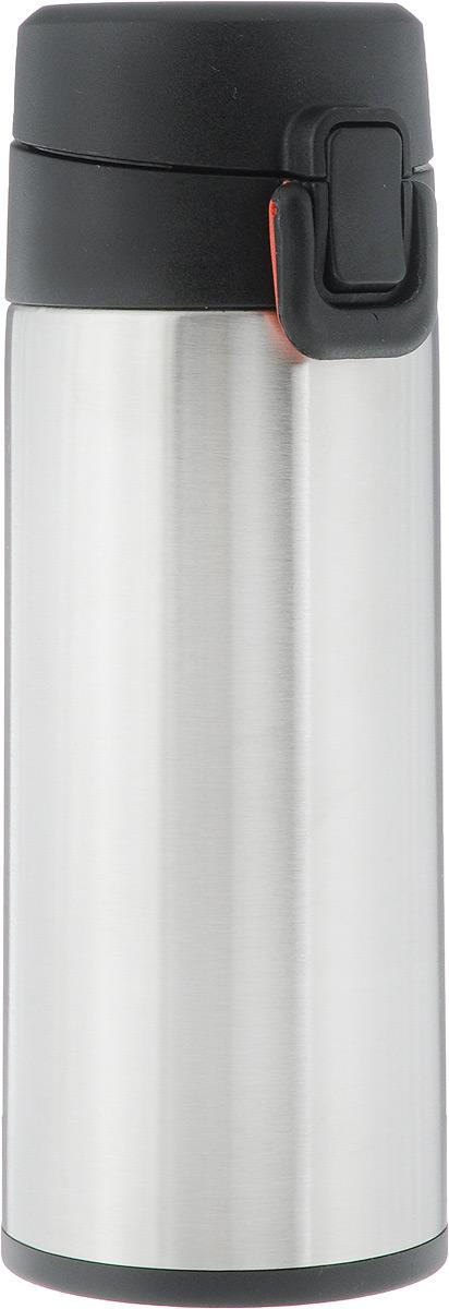 Термос Tescoma Constant Mocca, с замком, цвет: стальной, черный, 0,3 л318530Спортивный термос Tescoma Constant Mocca сохранит напитки горячими или холодными. Двойная колба из нержавеющей стали сохраняет и поддерживает первоначальную температуру напитка, поэтому вы сможете насладиться теплым чаем или любимым прохладительным напитком. Термос оснащен крышкой с кнопкой и замком, предохраняющим от преднамеренного открытия во время занятий спортом или путешествий. Объем термоса: 0,3 л. Диаметр термоса (по верхнему краю): 5 см. Высота термоса (с учетом крышки): 19,5 см.