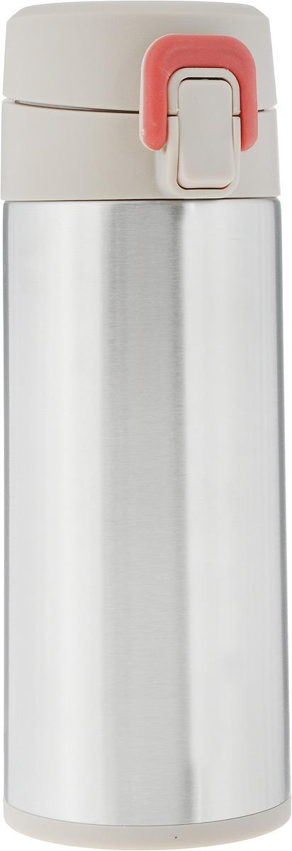 Термос Tescoma Constant Mocca, с замком, цвет: стальной, бежевый, 0,3 л318580Спортивный термос Tescoma Constant Mocca сохранит напитки горячими или холодными. Двойная колба из нержавеющей стали сохраняет и поддерживает первоначальную температуру напитка, поэтому вы сможете насладиться теплым чаем или любимым прохладительным напитком. Термос оснащен крышкой с кнопкой и замком, предохраняющим от преднамеренного открытия во время занятий спортом или путешествий. Объем термоса: 0,3 л. Диаметр термоса (по верхнему краю): 5 см. Высота термоса (с учетом крышки): 19,5 см.
