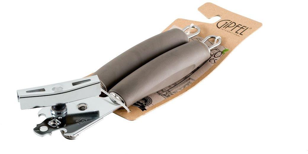 Консервный нож Gipfel Eco, длина 6 см9808Посуда Gipfel изготовлена только из качественных, экологически чистых материалов. Также уделяется особое внимание дизайну продукции, способному удовлетворять вкусы даже самых взыскательных покупателей. Сталь 8/10, из которой изготавливается посуда и аксессуары Gipfel, является уникальной. Она отличается высокими эксплуатационными характеристиками и крайне устойчива к физическим воздействиям. Сложно найти более подходящий для создания качественной кухонной посуды материал. Отличительной чертой металлической посуды, выполненной из подобной стали, является характерный сероватый оттенок поверхности и особый блеск. Это позволяет приготовить более здоровую пищу.