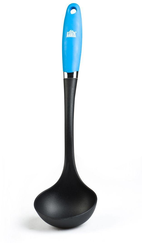 Половник Stahlberg Pluton, цвет: светло-голубой, длина 33,3 см9946-SПосуда STAHLBERG изготовлена только из качественных, экологически чистых материалов. Также уделяется особое внимание дизайну продукции, способному удовлетворять вкусы даже самых взыскательных покупателей. Сталь 8/10, из которой изготавливается посуда и аксессуары STAHLBERG, является уникальной. Она отличается высокими эксплуатационными характеристиками и крайне устойчива к физическим воздействиям. Сложно найти более подходящий для создания качественной кухонной посуды материал. Отличительной чертой металлической посуды, выполненной из подобной стали, является характерный сероватый оттенок поверхности и особый блеск. Это позволяет приготовить более здоровую пищу.