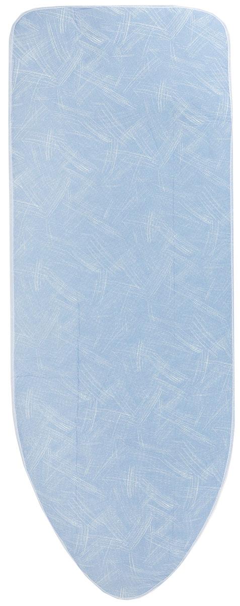 Чехол для гладильной доски Paterra, антипригарный, с поролоном, 146 х 55 см402-486_серо-синийАнтипригарный чехол для гладильной доски Paterra необходим для обеспечения идеального результата в процессе глажения вещей. Он имеет хлопковую основу с особой антипригарной пропиткой из силикона, которая исключает пригорание одежды к чехлу в процессе глажения. Силиконовая пропитка обеспечивает эффект двустороннего глажения: чехол, нагреваясь, отдает тепло вещам. Натуральный хлопок в составе обеспечивает максимальную скорость скольжения утюга и 100% паропроницаемость. Хлопковый чехол имеет подкладку из поролона (мягкого пенополиуретана) оптимальной толщины (4 мм), которая не истончается со временем. Затяжной шнур определяет удобную и надежную фиксацию чехла на доске. Кроме того, наличие шнура делает чехол пригодным для гладильной доски любой формы и меньшего размера. Край хлопкового чехла обработан особой лентой, предотвращающей распускание ткани. Устойчивый рисунок сохраняется длительное время, даже под воздействием высоких температур. Размер чехла: 146 х 55 см. ...