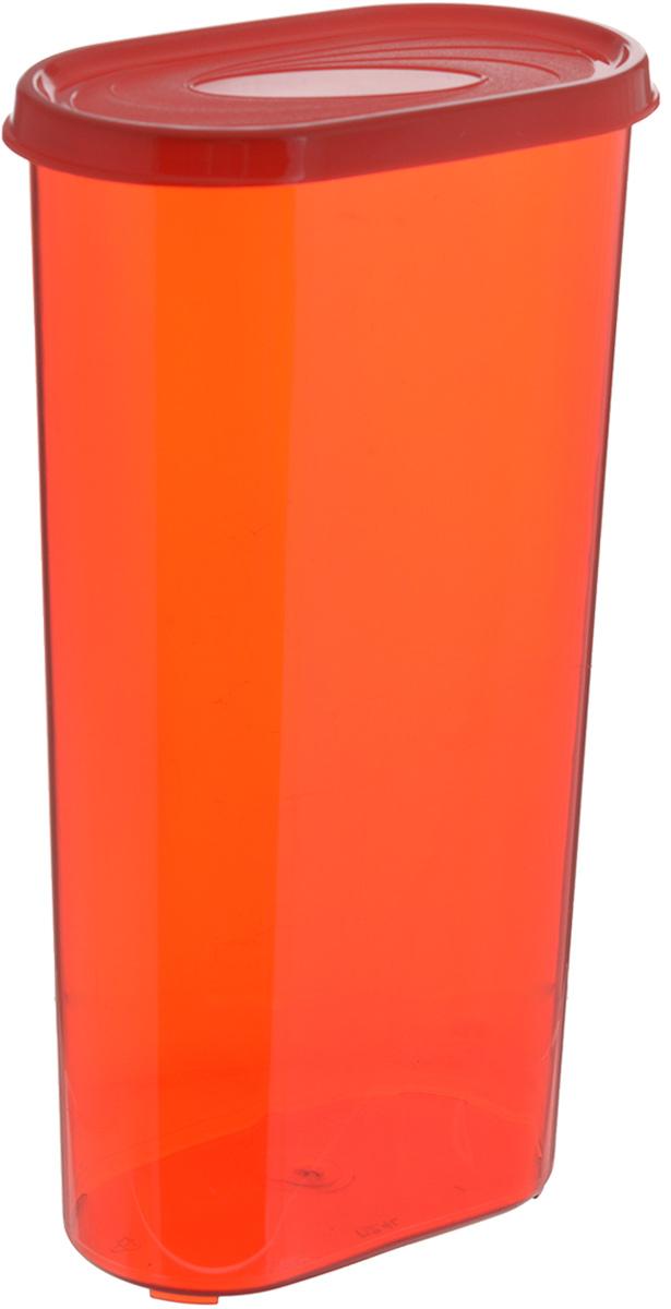 Банка для сыпучих продуктов Giaretti, цвет: красный, 2,4 лGR2229_красныйБанка для сыпучих продуктов Giaretti выполнена из высококачественного пластика. Банка предназначена для хранения круп, сахара, макаронных изделий и в том числе для продуктов с ярким ароматом (специи и прочее). Плотно прилегающая крышка не пропускает запахи содержимого в шкаф для хранения, при этом продукт не теряет своего аромата. Банки легко устанавливаются одна на другую. Можно мыть в посудомоечной машине. Объем: 2,4 л. Диаметр (по верхнему краю): 14,5 x 8,5 см. Высота (с учетом крышки): 28 см.