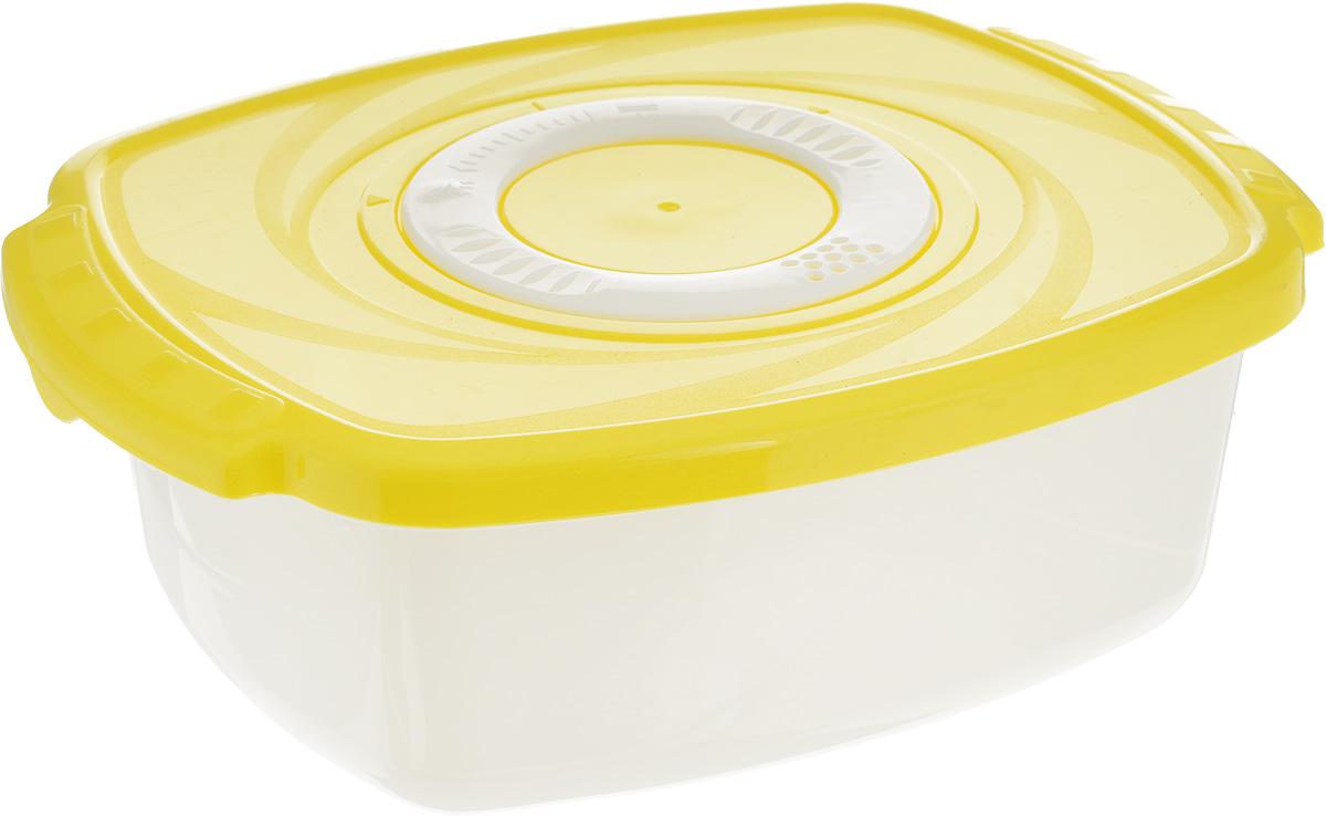 Кастрюля для СВЧ Plastic Centre Galaxy, цвет: желтый, 1,6 лПЦ2261_желтыйКастрюля для СВЧ Plastic Centre Galaxy изготовлена из высококачественного полипропилена, устойчивого к высоким температурам. Яркая цветная крышка плотно закрывается, дольше сохраняя продукты свежими и вкусными. Кастрюля снабжена паровыпускным клапаном, который можно регулировать. Кастрюля прекрасно подойдет для разогрева и приготовления пищи в СВЧ. Объем кастрюли: 1,6 л. Размеры кастрюли: 22,3 х 16,6 х 7,5 см.
