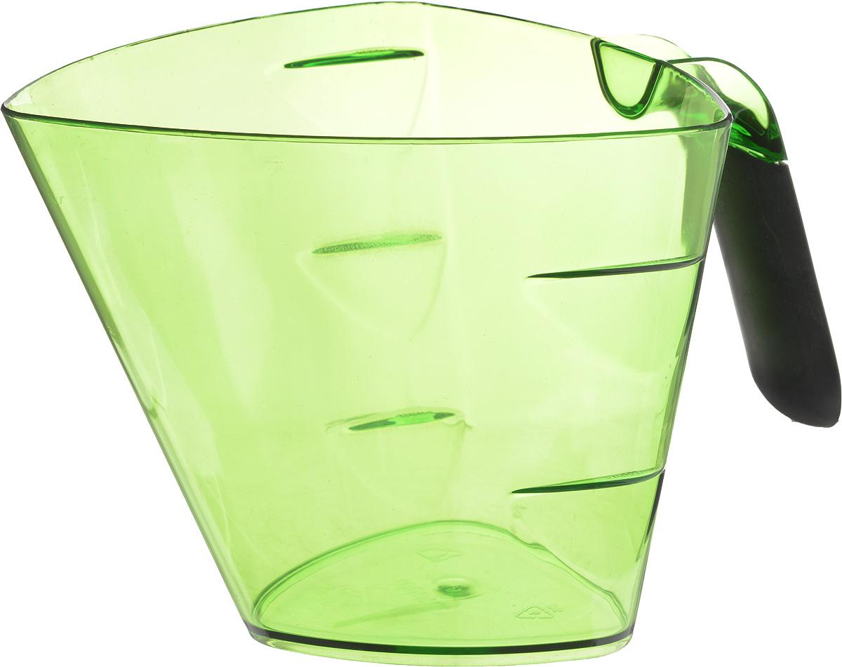 Стакан мерный Giaretti Cristallo, цвет: зеленый, 1 лGR3066_зеленыйМерный прозрачный стакан Giaretti Cristallo выполнен из высококачественного пластика. Стакан оснащен удобной ручкой с противоскользящей вставкой и носиком, которые делают изделие еще более простым в использовании. Мерная шкала внутри стакана, позволяет измерить жидкости до 1 л. Удобная форма стакана позволяет как отмерить необходимое количество продукта, так и взбить/замесить его непосредственно в прямо в этой же емкости. Такой стаканчик пригодится каждой хозяйке на кухне, ведь зачастую приготовление некоторых блюд требует известной точности. Объем: 1 л. Размер: 14,5 х 15 х 13 см. Длина ручки: 9,5 см. Толщина стенок: 2 мм.