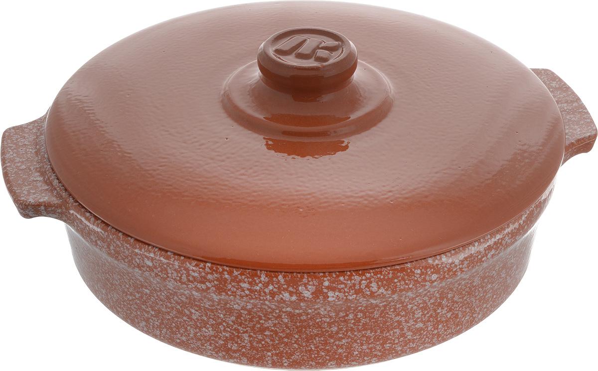 Сотейник керамический Ломоносовская керамика Огонек, с крышкой, цвет: мраморный, терракотовый, 2,5 л1СТтр/м-1ССотейник Ломоносовская керамика Огонек изготовлен из термостойкой керамики. Пища в сотейниках не пригорает и сохраняет свой истинный аромат и вкус, благодаря экологически чистым материалам. Обладает такая модель свойством равномерного нагрева и остывания. Благодаря этому такой сотейник идеально подходит для приготовления блюд, требующих долгого томления на огне. Сотейник оснащен крышкой, выполненной также из керамики. С керамической крышкой можно готовить СВЧ и духовке. Подходит сотейник для использования на всех типах плит (для индукционных плит необходим специальный диск), а также духовок, микроволновок и холодильниках. Также его можно мыть в посудомоечной машине. Внутренний диаметр сотейника (по верхнему краю): 24,4 см. Внешний диаметр сотейника: 25,5 см. Размер сотейника (с учетом ручек): 29 см. Высота стенки: 6,5 см.