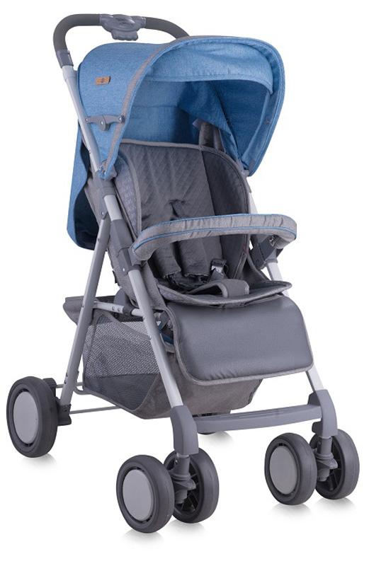 Lorelli Прогулочная коляска Aero с накидкой на ножки цвет синий серый