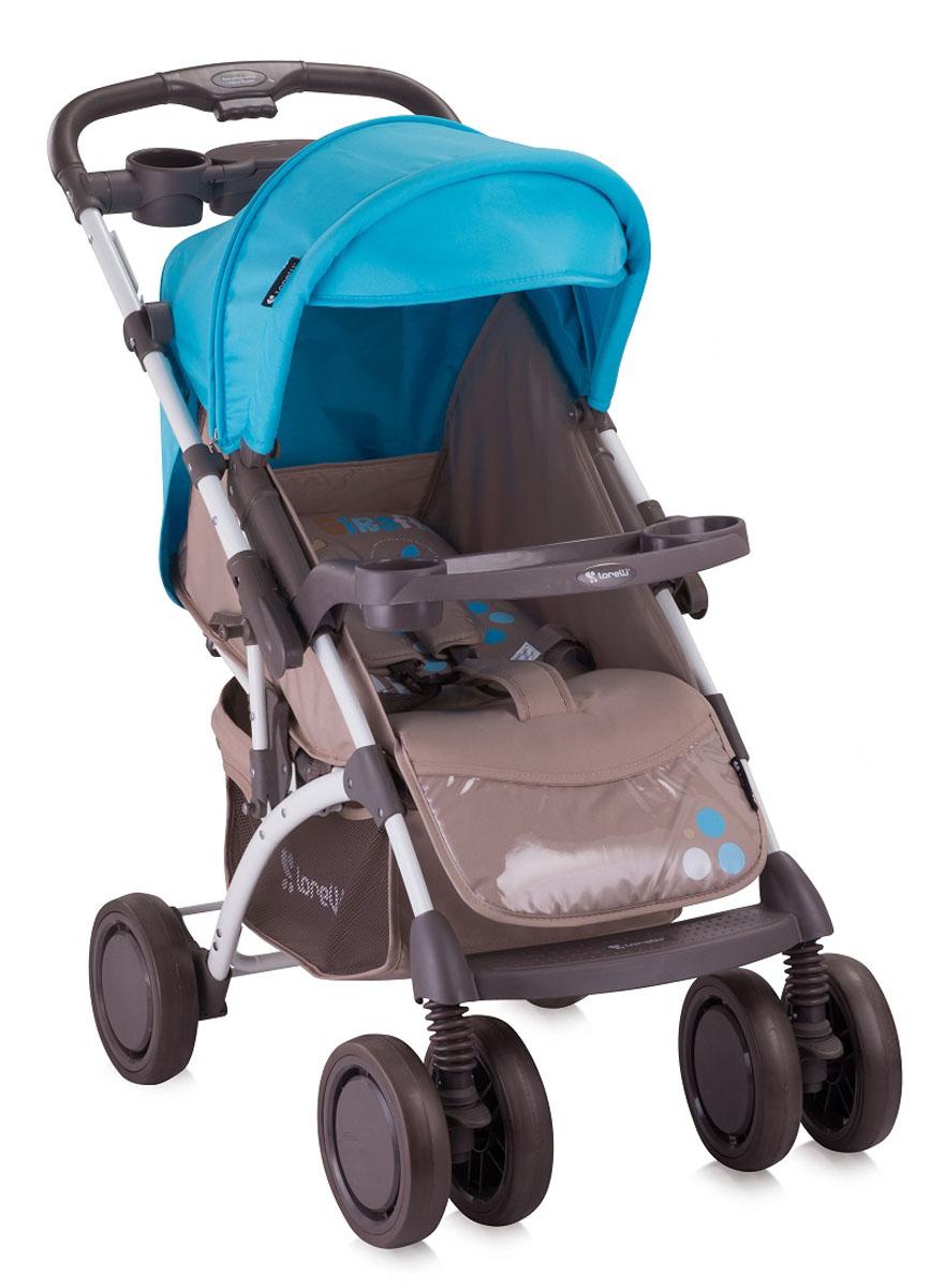Lorelli Прогулочная коляска Bertoni Apollo с накидкой на ножки цвет бежевый синий