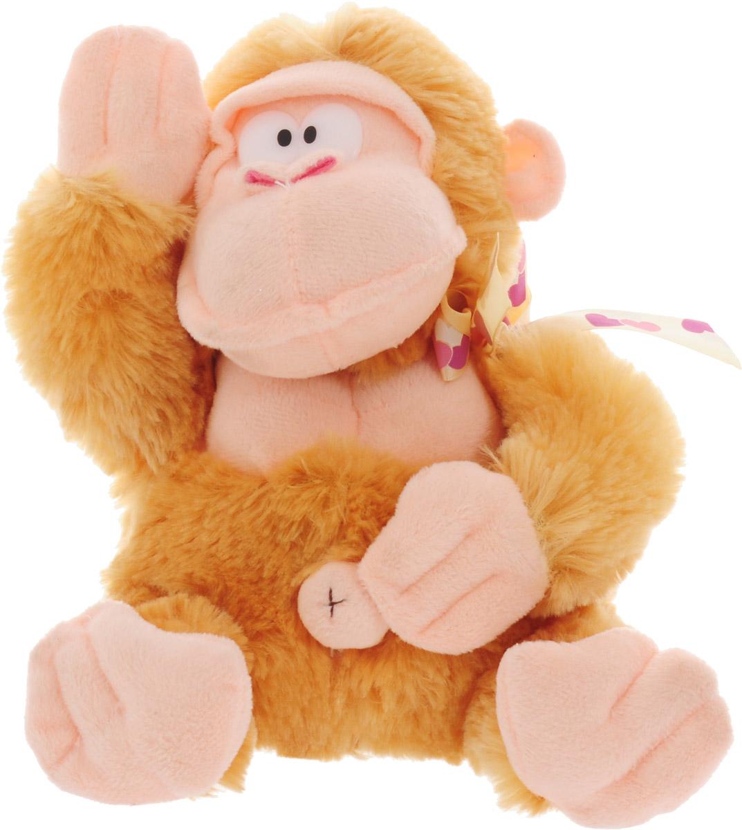 Magic Bear Toys Мягкая игрушка Обезьяна Федот цвет светло-коричневый 20 см