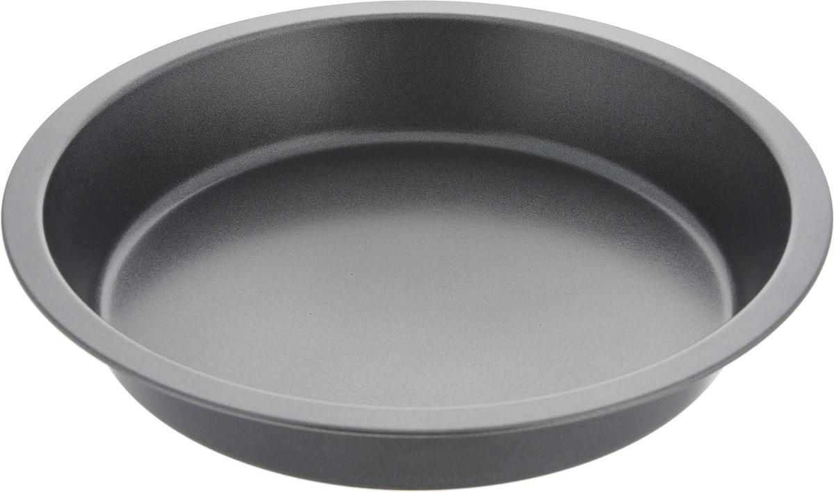 Форма для выпечки MOULINvilla, круглая, с антипригарным покрытием, диаметр 24,5 смBWC-024Форма для выпечки MOULINvilla выполнена из утолщенной углеродистой стали, обладающей большой износостойкостью и надежностью. Технология антипригарного покрытия Goldflon способствует оптимальному распределению тепла. Форму легко чистить и мыть. Можно мыть в посудомоечной машине.